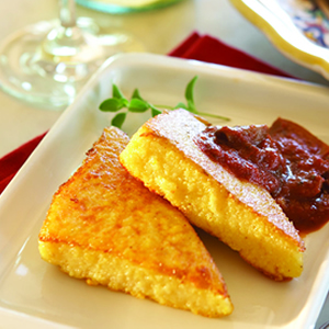 Grilled Polenta Wedges