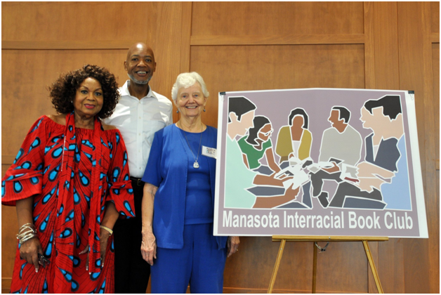Manasota's Interracial Book Club members celebrate club's anniversary.